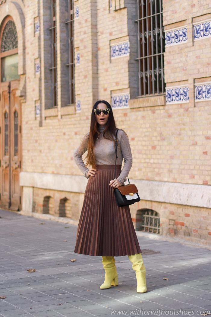 Unas botas altas de las que enamorarse: son de AGL amarillas y muy cómodas