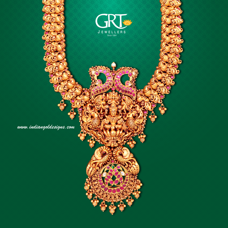 e8e3fbb7f Gold and Diamond jewellery designs: GRT temple jewellery