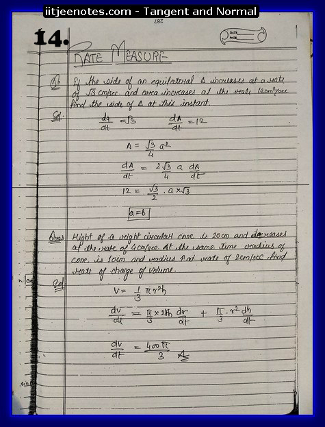 rate measure notes