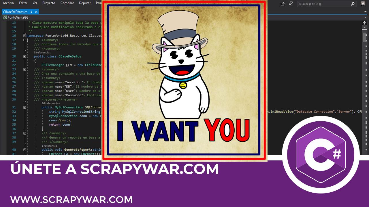 Comparte tu conocimiento en scrapywar.com