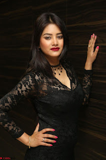 Actress Monica in spicy transparent Black Top at O Pilla Nee Valla Movie Audio Launch Feb 2017 072.JPG