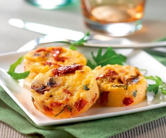 Polenta Aux Tomates Séchées Et Basilic