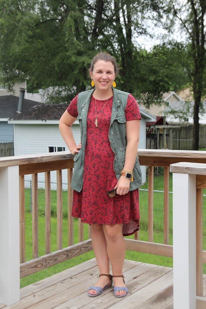 f6f41d5860 bybmg  Fall Transition Outfit with the LuLaRoe Carly Dress
