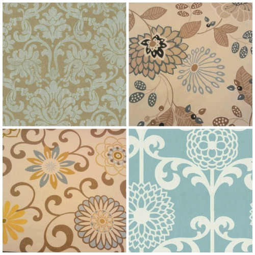 Curtain fabric, blue fabric prints, Joann's, floral fabric prints, Florals-Family-Faith, Cindy Rippe