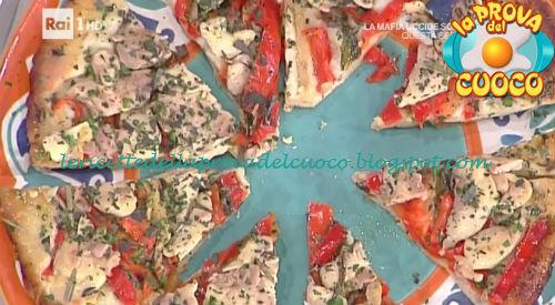 Pizza all'amatriciana ai carciofi e pollo e peperoni ricetta Bonci e Salvatori da Prova del Cuoco