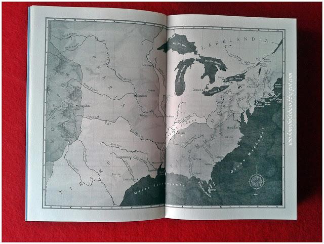 """Mapa Norty i okolic; """"Królewska klatka"""" Victoria Aveyard"""