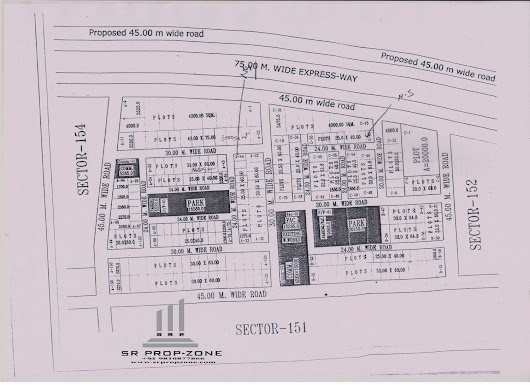 Layout Plan of Noida Sector-153 HD Map