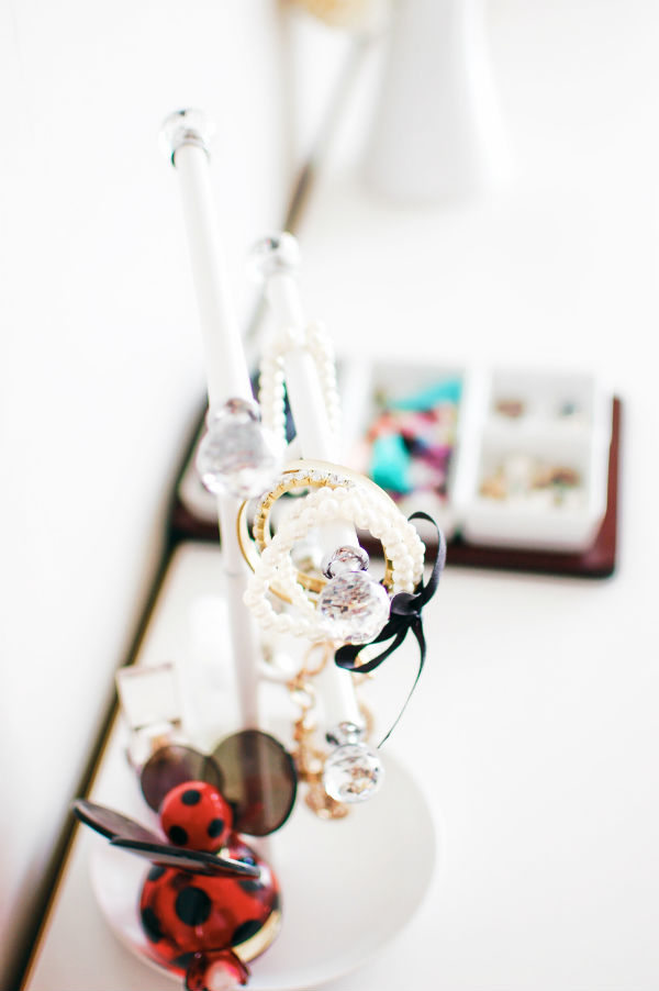 Jewelry stand on master bedroom dresser