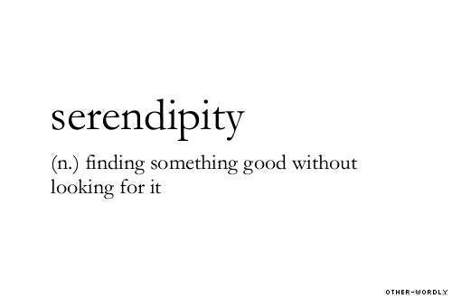"""Résultat de recherche d'images pour """"serendipity meaning"""""""