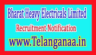 Bharat Heavy Electricals Limited (BHEL) Recruitment Notification 2017