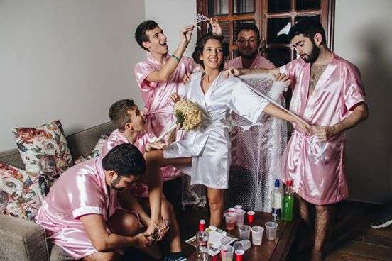 Amazing Wedding Moment: Brazilian Bride Chooses Male For 'Bridesmaids' (See Photos)