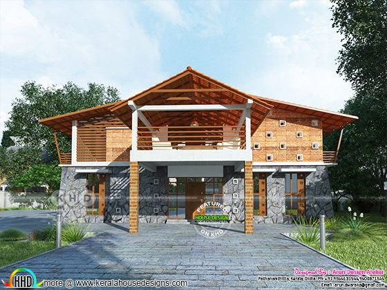 2900 square feet sloping roof modern home