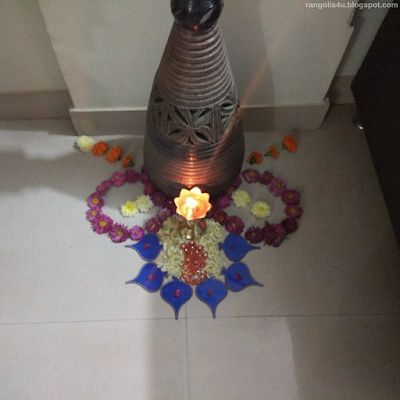 Attractive Flower Rangolis