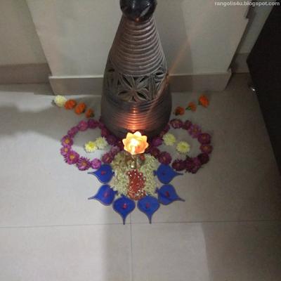 Attractive Flower Rangolis