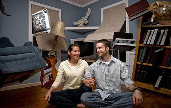 Retratos divertidos de pareja