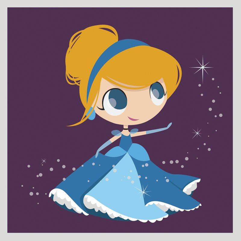 princess Cinderella chibi công chúa cô bé lọ lem 2