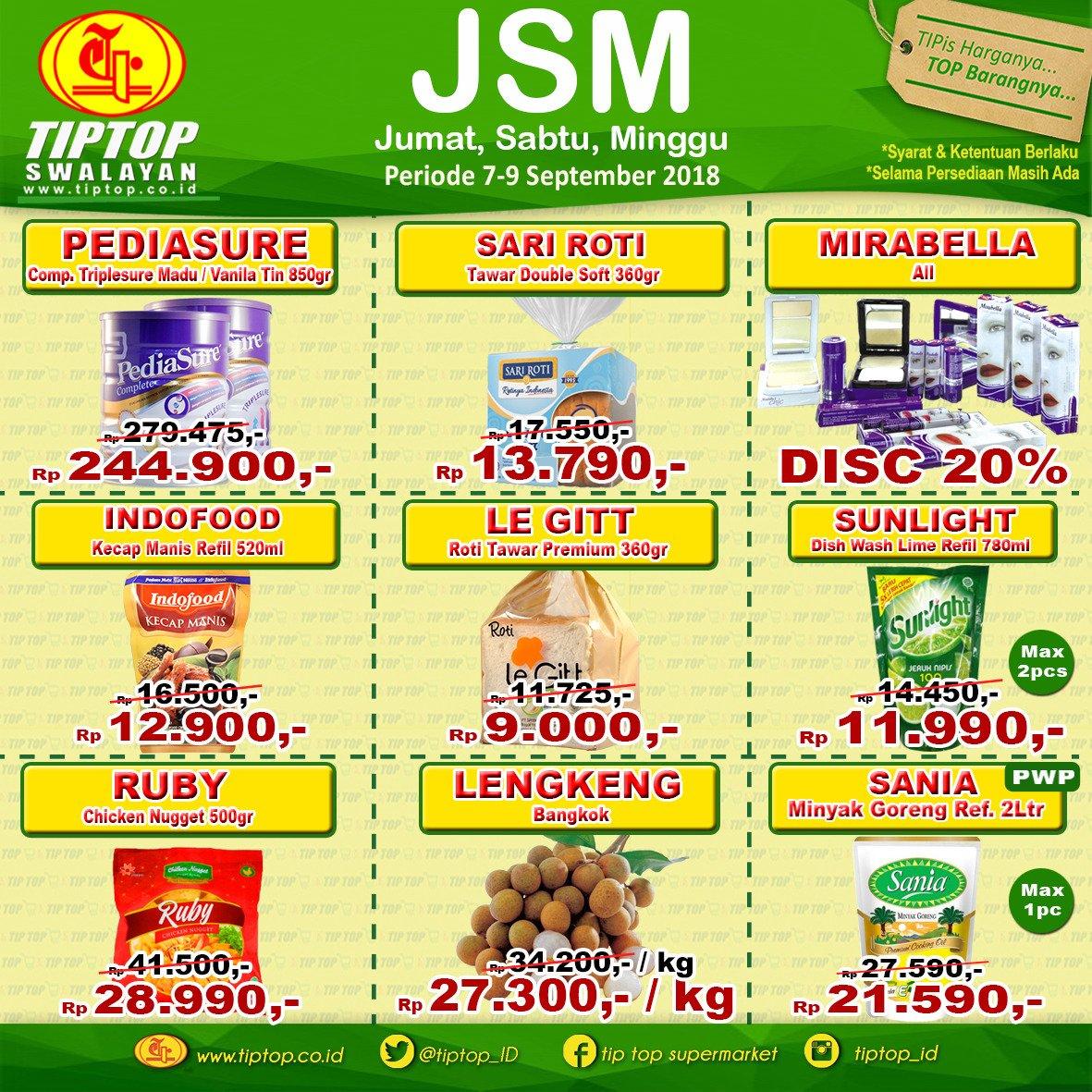 TipTop - Katalog Promo JSM Periode 07 - 09 September 2018