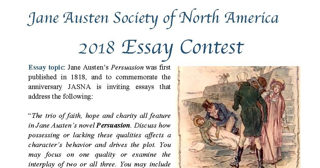 Jane Austen Society Of North America Central New Jersey Region  Jane Austen Society Of North America Central New Jersey Region   Jasna Essay Contest Essay About English Language also Bibliography Online  Writing Service Company
