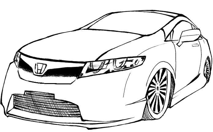Desenhos Para Pintar: Carros para Pintar-Colorir Carros
