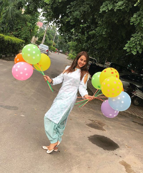 Punjabi and Bhojpuri singer and actress Sunanda Sharma Latest Movie Images