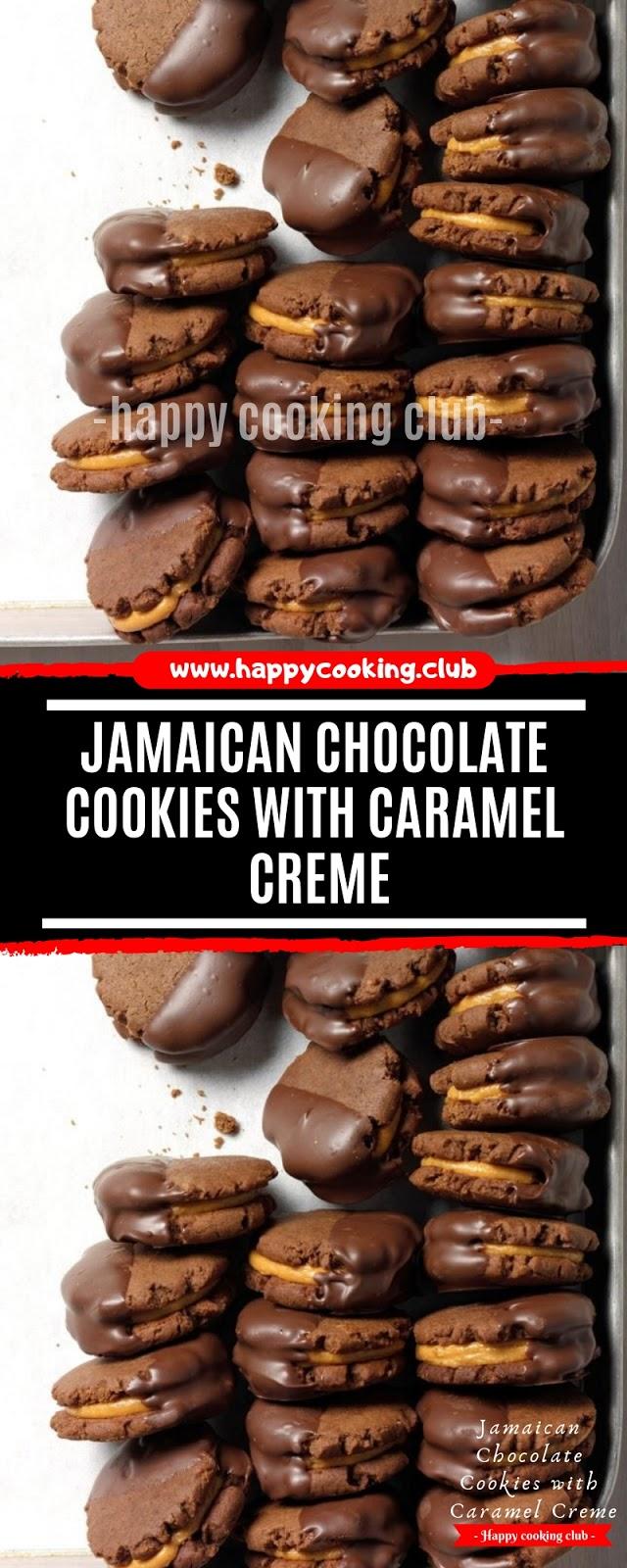 Jamaican Chocolate Cookies with Caramel Creme