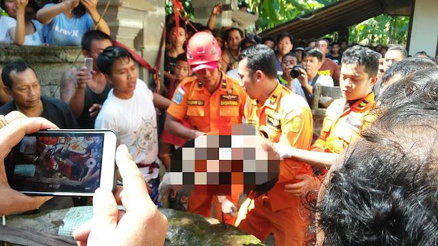 Seorang Bocah Terjatuh ke Dalam Sumur di Karangasem