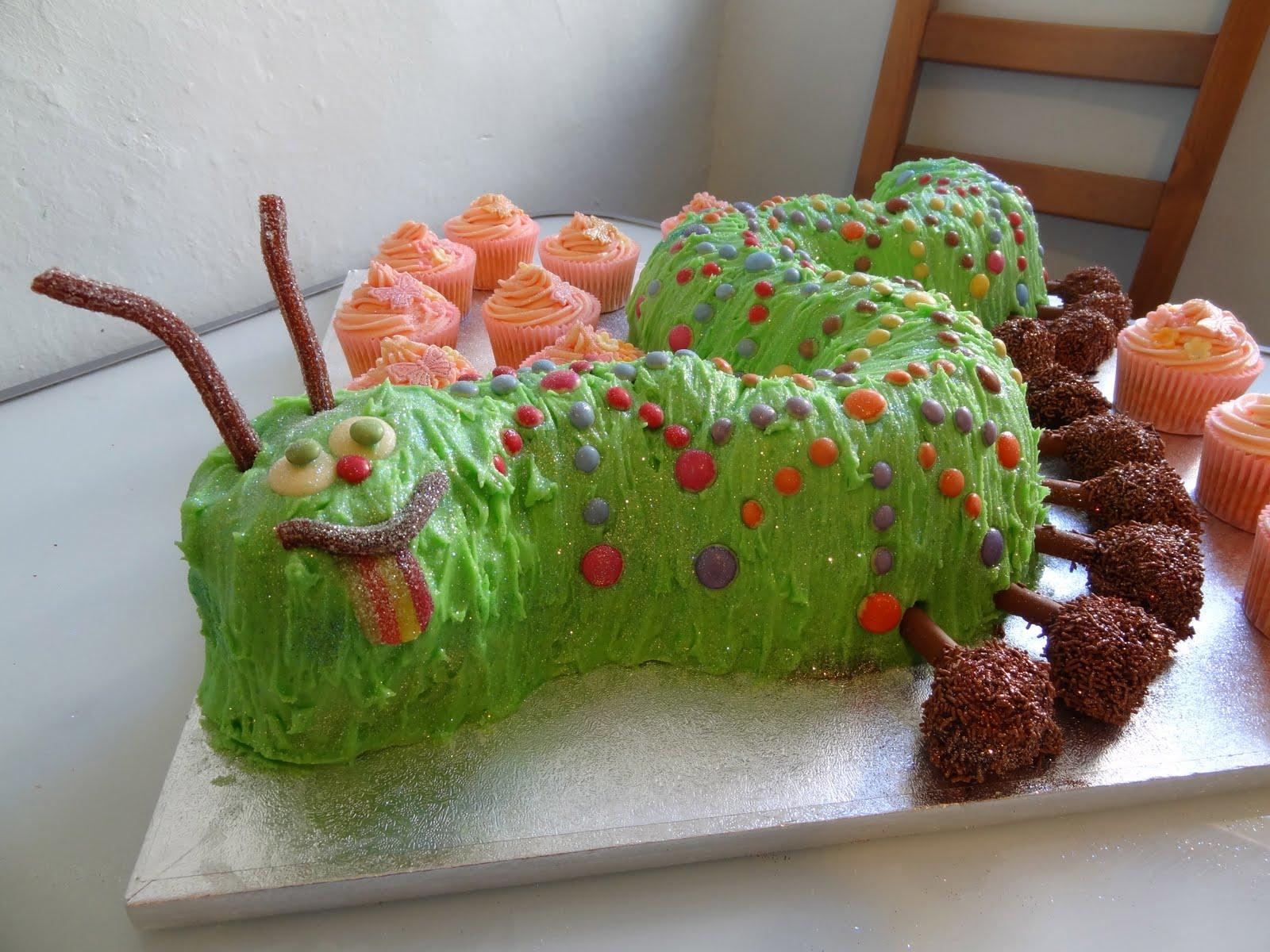 Adventures in Cake: Caterpillar birthday cake