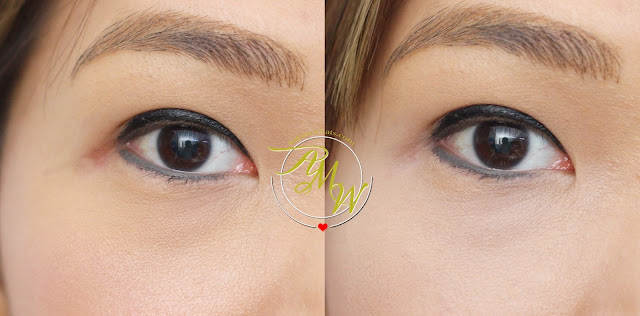 a before and after photo of Etude House Big Cover Concealer Tip in sand