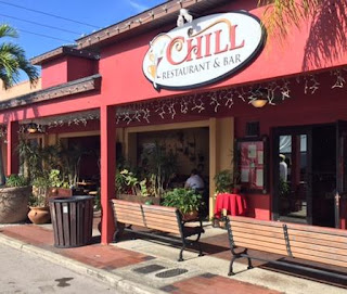 The front of the Chill Restaurant in St Pete Beach, Florida