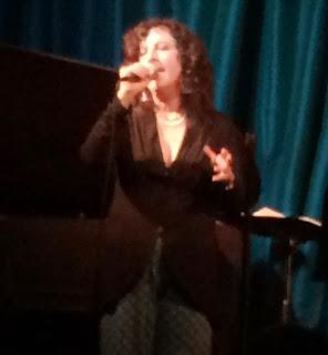 Lisa B (Lisa Bernstein) at a gig