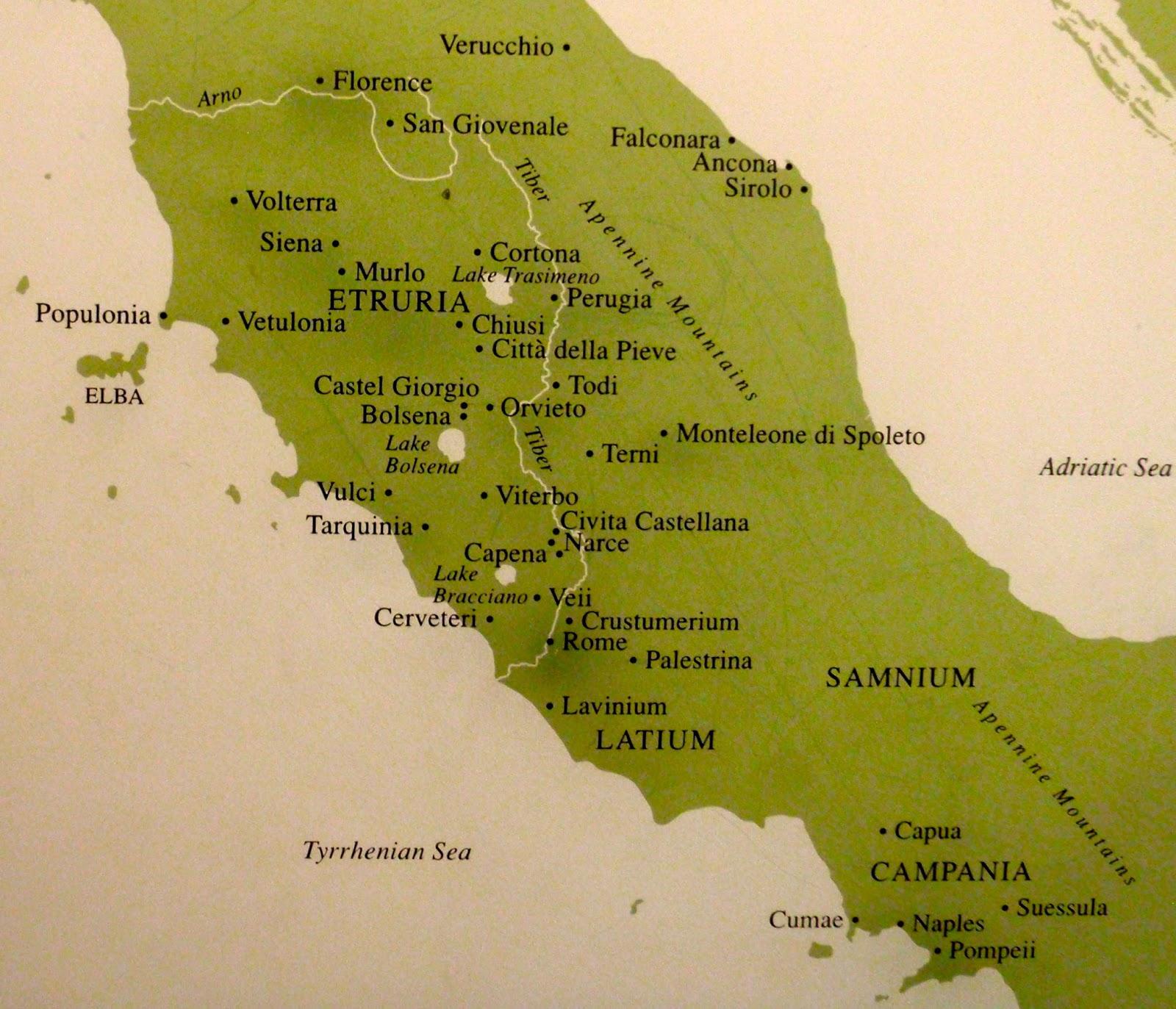 Map Land Map Etruscan