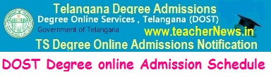 TS Degree Online Admission Online Apply 2019 - DOST BA B.Sc B.Com Web Option Schedule