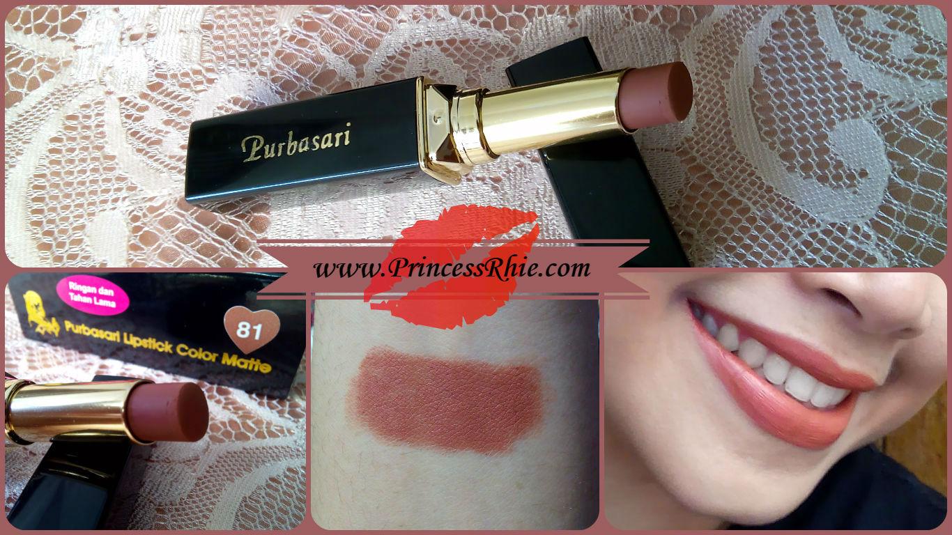 Purbasari Lipstick Matte Diamond No 81 Color Princess Rhie