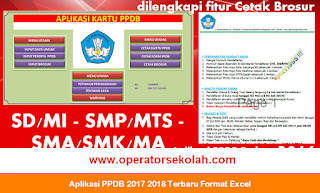 Aplikasi PPDB 2017 2018 Terbaru Format Excel