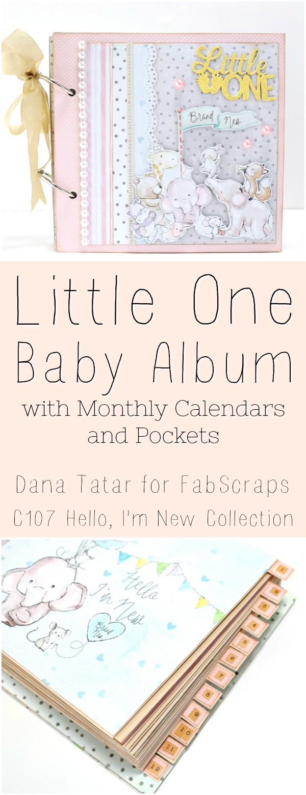 Little One Baby Album Tutorial by Dana Tatar for FabScraps