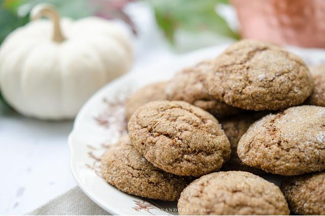 pumpkin ginger molasses cookies
