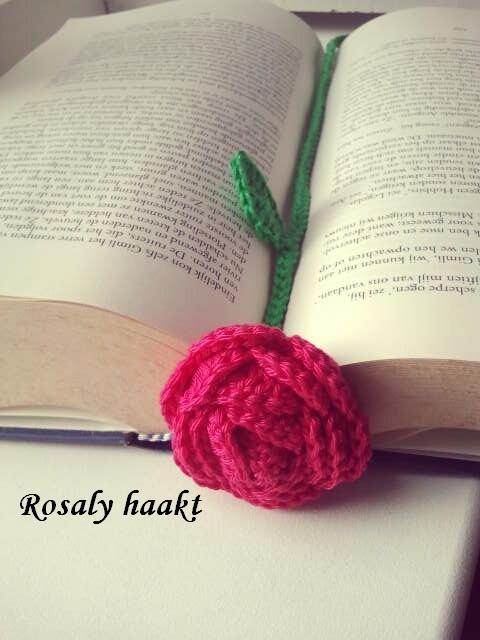 Rosaly Haakt En Meer Boekenlegger Roos