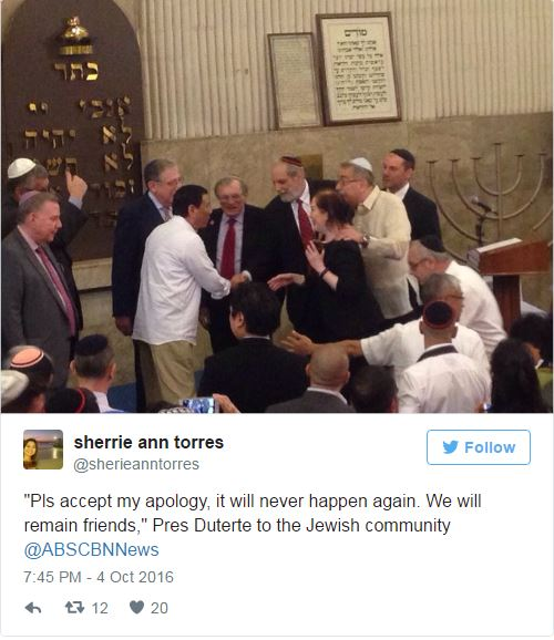 This is Israel's Envoy Response to Duterte's Apology. READ HERE!