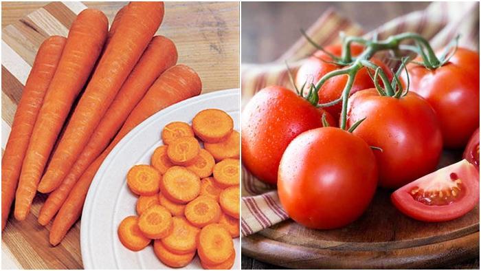 Tomat dan wortel mengandung mineral penurun kolesterol