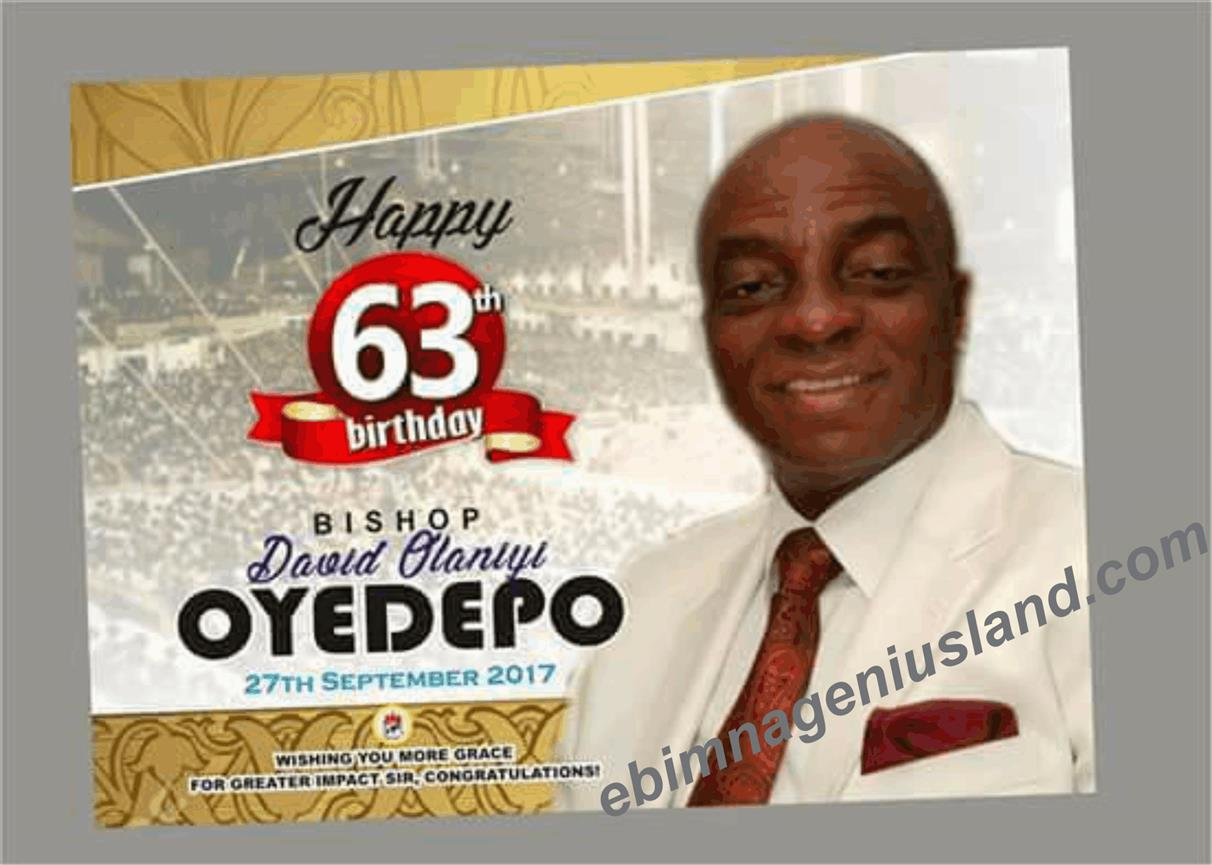 Happy Birthday To Bishop Dr. David O. Oyedepo
