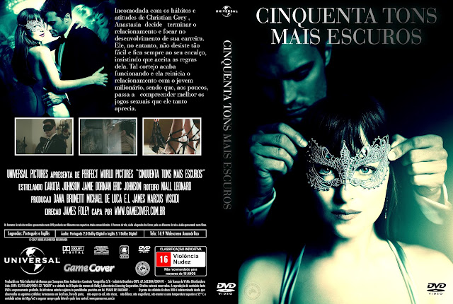 Capa DVD Cinquenta Tons Mais Escuros [Exclusiva]