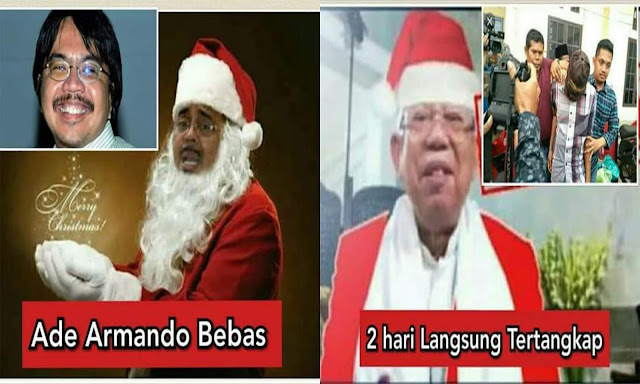 Tak Adil Menangani Pengedit Foto Sinterklas Ma'ruf Amin dan Habib Rizieq