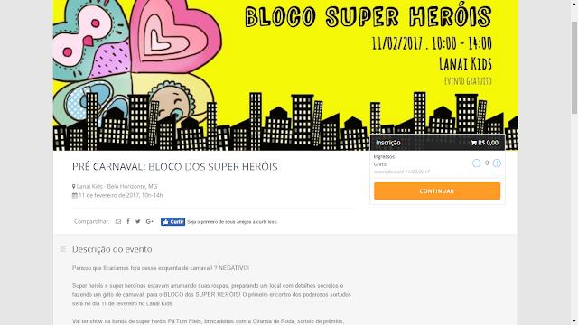 bloco dos superherois evento mamae sortuda