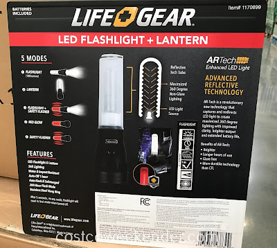 Costco 1170899 - Life Gear LED Flashlight and Lantern Combo: brings you the best of both worlds
