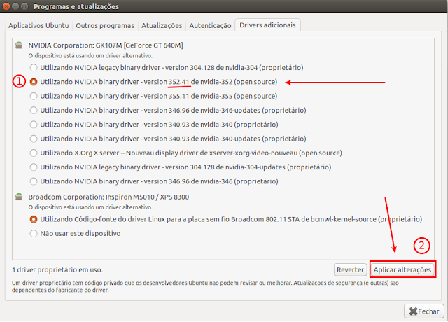 Como instalar driver Nvidia Ubuntu