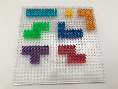 Tetris Hama bead shapes design