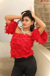 Priya Augustin in Red Top cute beauty hq .xyz Exclusive Pics 009