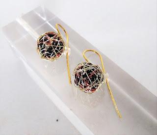 Gold modern earrings, handmade 14k gold earrings