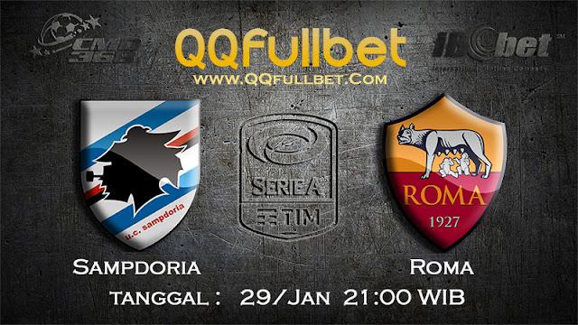 PREDIKSIBOLA - Prediksi Taruhan Bola Sampdoria vs AS Roma 29 Januari 2017 (Serie A Italia)