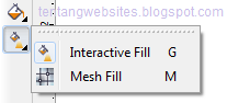 interactive fill tool pada toolbox corelDraw